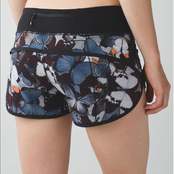 Lululemon Speed Short in Biggie So Fly Butterfly